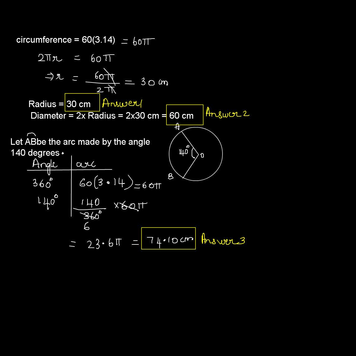 24x7 Assignment Help Blog Radius Diameter And Arc Length