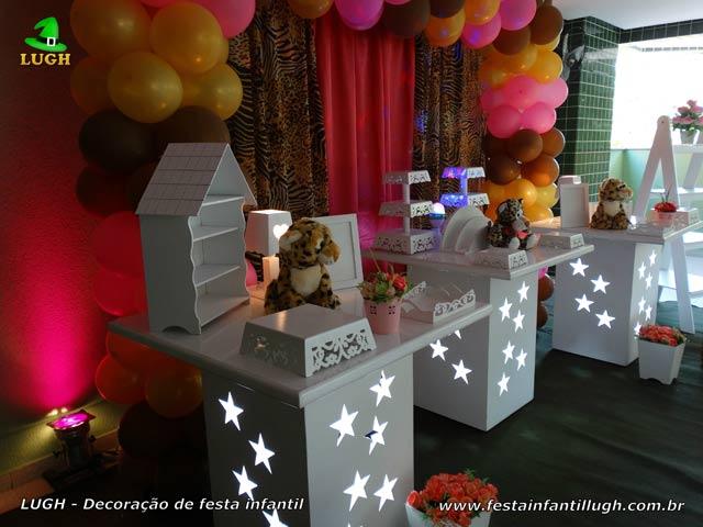 Mesa temática da Oncinha - Aniversário de meninas - Decoração de festa