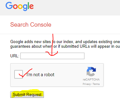 Submit Url dan Sitemap ke Google