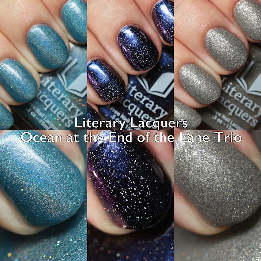 Literary Lacquers Ocean at the End of the Lane Trio Swatches and Review