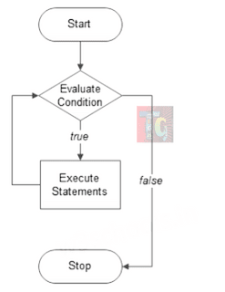 Flowchart of while loop