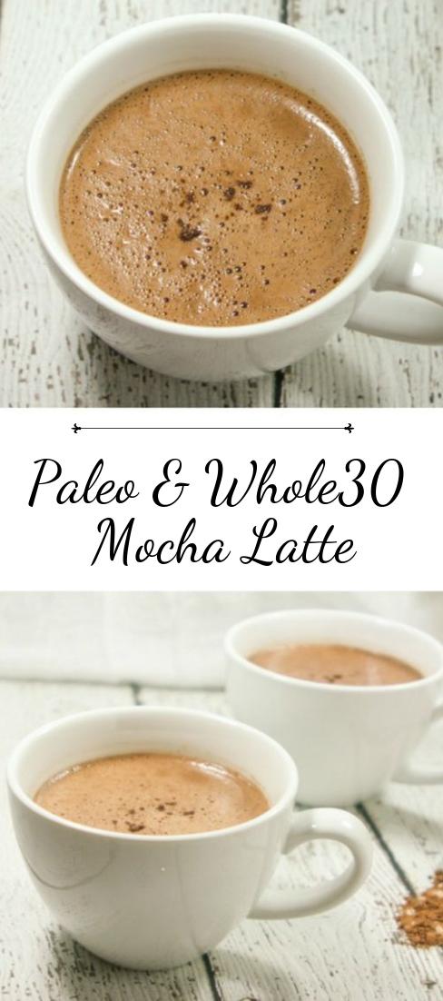 Paleo & Whole30 Mocha Latte #healthydrink #easyrecipe