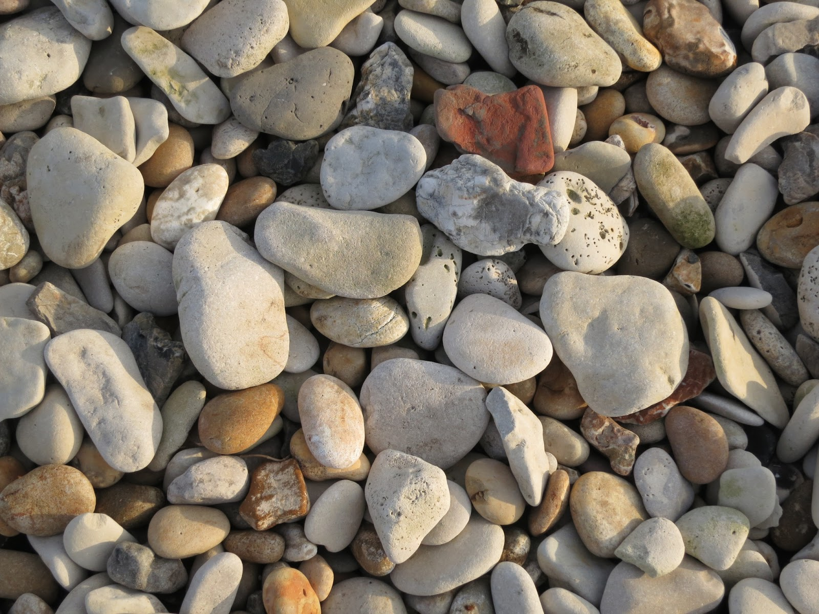 Pebbles on the Ham - the harbour side of the causeway between Weymouth and Portland in Dorset