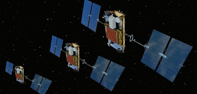 Iridium NEXT satellites. Credit: Iridium