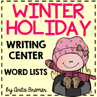 FREE Winter and Holiday themed word charts, perfect for a writing center and Daily 5. K-2 #freebies #winterwriting #kindergarten #1stgrade #2ndgrade #writingcenter #daily5