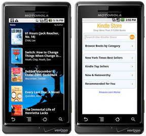 Verizon to include Amazon Kindle app on its Android phones and other devices