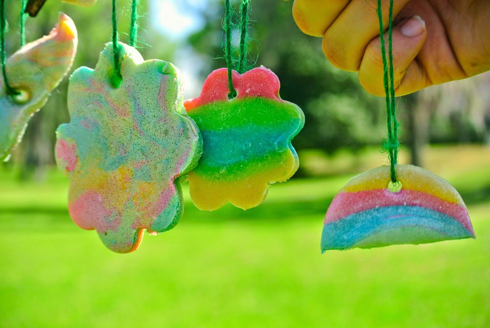 Salt Dough Ornaments, Rainbows