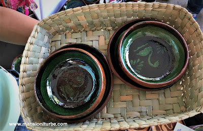 Pottery & Vegetal Fiber Baskets that you can find a the Pottery Fair in Patzcuaro