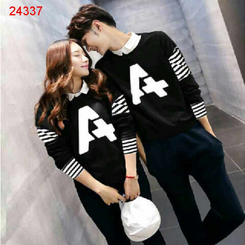 Jual Couple Lengan Panjang LP Alpha Black - 24337