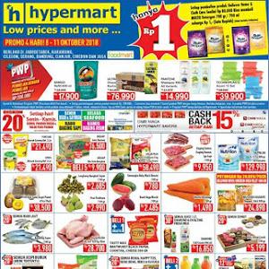 Katalog Promo HYPERMART Awal Pekan Weekday 8 - 11 Oktober 2018