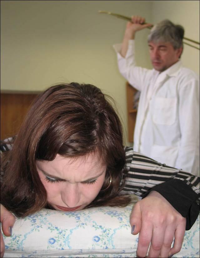 Girls self spanking