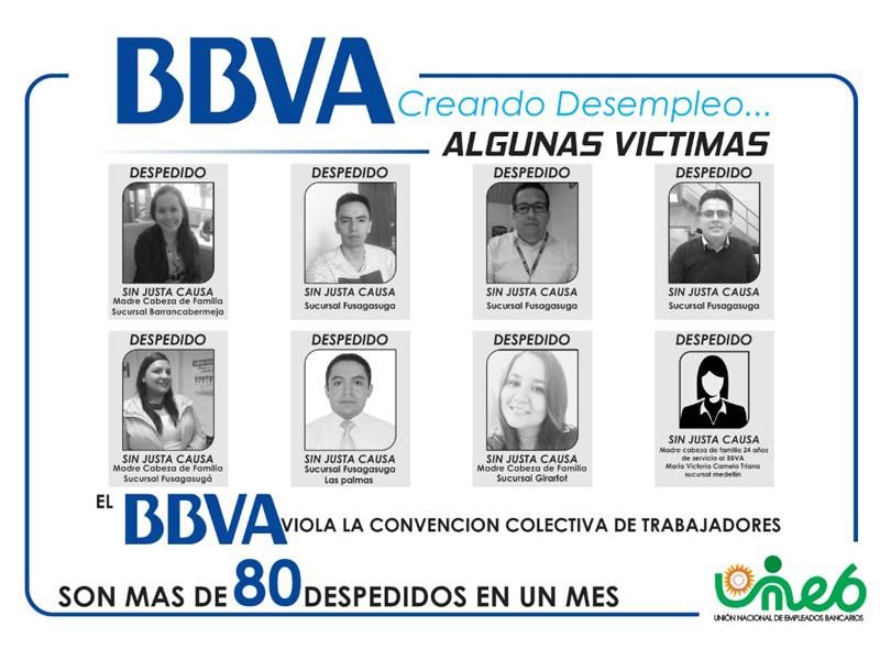 BBVA viola la convención colectiva de trabajadores