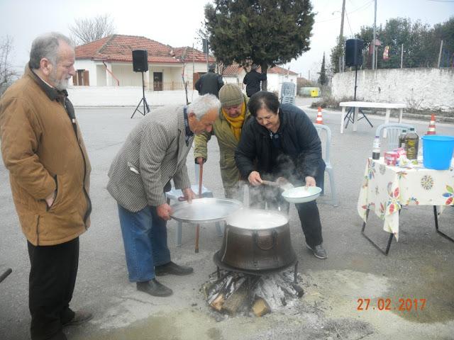 Ο Ποντιακός Σύλλογος Λόφου Ελασσόνας, αναβίωσε το κάψιμο του καρνάβαλου
