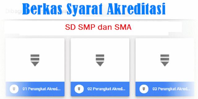 Download Berkas Akreditasi Sekolah Untuk SD, SMP, SMA Lengkap Tahun 2019