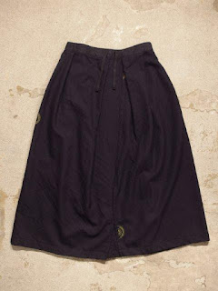 """FWK by Engineered Garments """"Tuck Skirt in Dk.Navy Uniform Serge"""""""