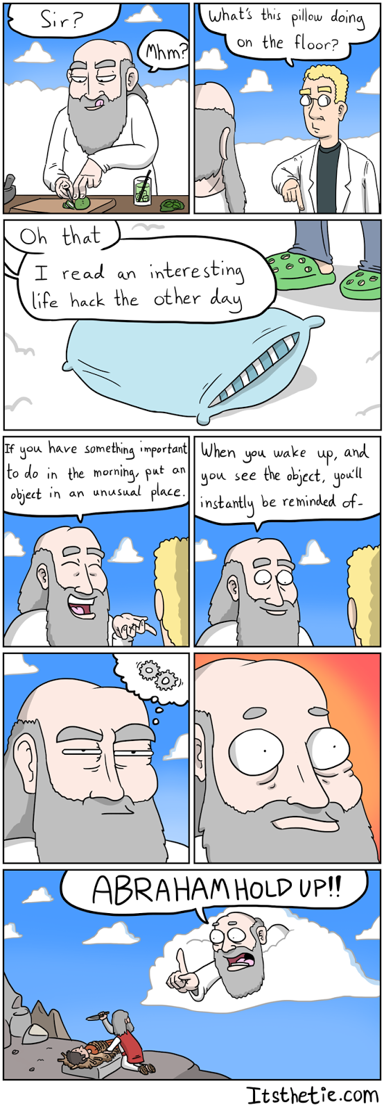 Comic about god being forgetful