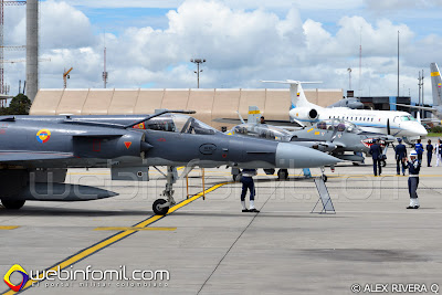 Aviones Kfir C-10, AT-27 Tucano, A-29B Super Tucano y Embraer Legacy 600 de la Fuerza Aérea Colombiana.
