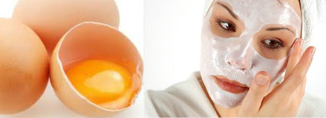 Máscara facial com clara de ovo