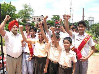 School Children singing Patriotic Songs