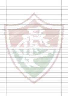 Papel Pautado do Fluminense rabiscado PDF para imprimir na folha A4