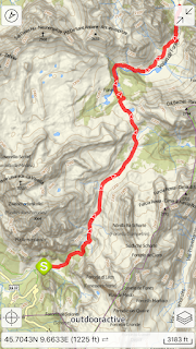 Alta Badia app map and overview for Hike 2 - Fanes.