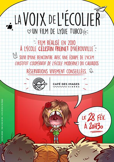 Création d'une affiche pour la projection d'un film sur l'école Freinet d'Hérouville saint clair