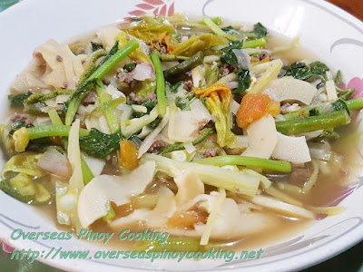 Sautéed Ilocano Vegetables with Ground Beef Dish