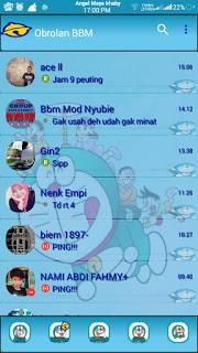 BBM Mod Transparan Doraemon Clone