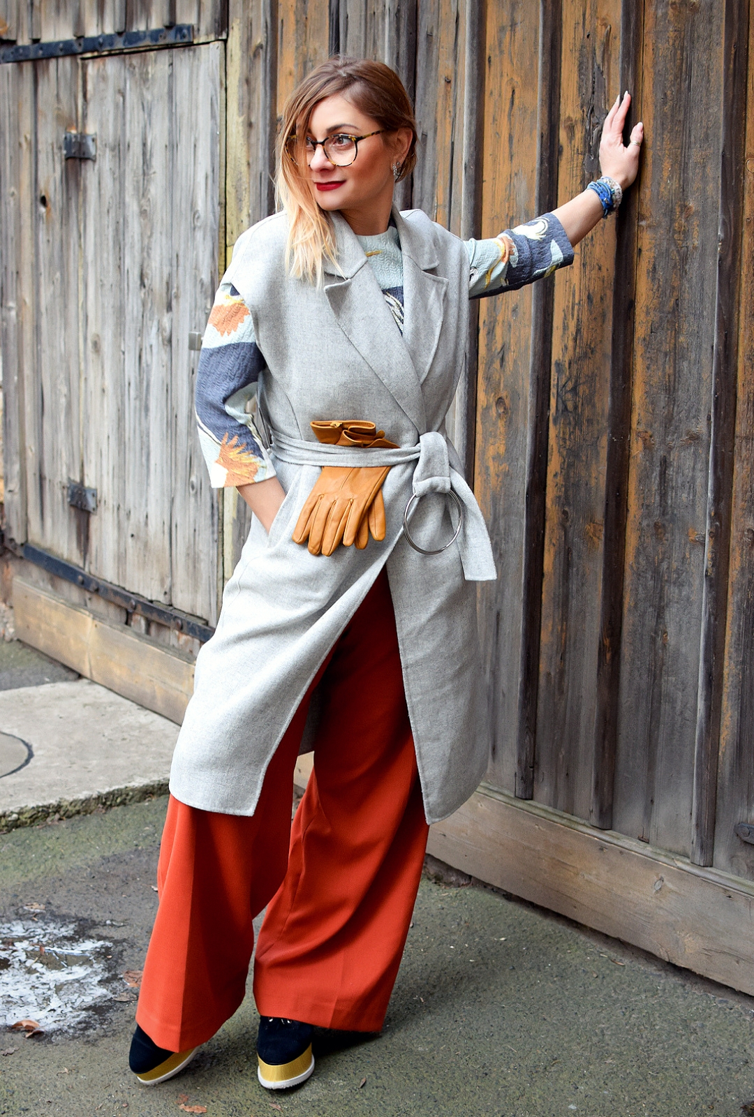 Outfit für sehr kaltes Winter Wetter, stylish im Winter