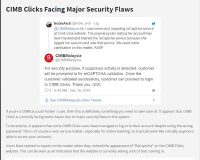CIMB Clicks Hacked ? Please read this 7