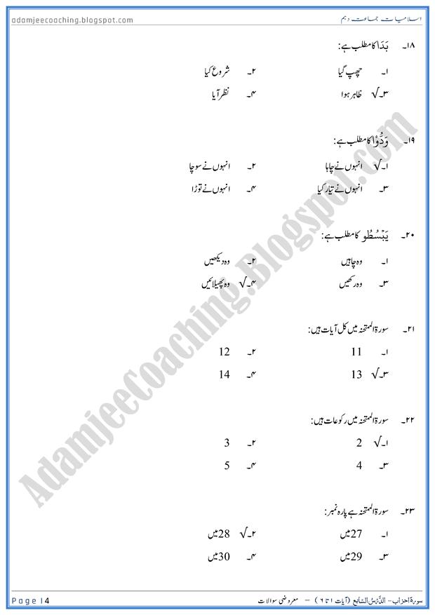 surah-al-mumtahanah-ayat-01-to-06-mcqs-islamiat-10th