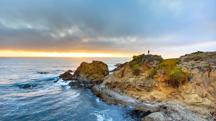 Wallpaper: Sunset at Fort Bragg, California