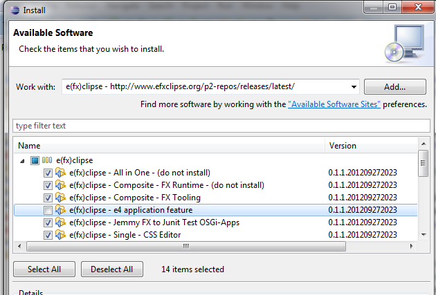 CPH IT-LAB: How to configure JavaFX 2 2 in Eclipse Juno