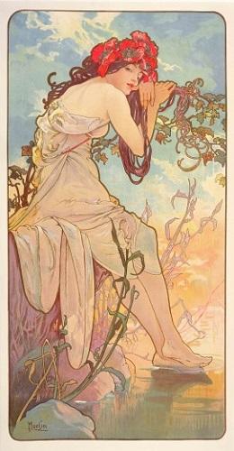 arteeblog série alphonse mucha the seasons as estações 1896