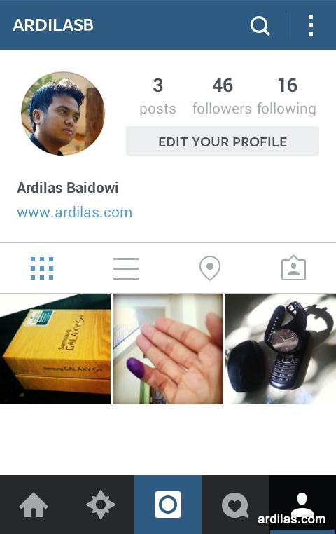 Profil - Kenali Aplikasi Instagram & Cara Pemakaiannya Bagi Pemula