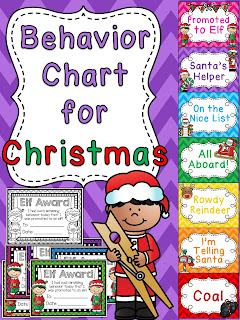 Christmas behavior chart - check these out! There's ones for every holiday!