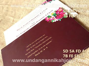 Undangan pernikahan unik vintage single hardcover