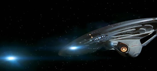 La U.S.S. Enterprise NCC-1701-E in una scena del film Star Trek Primo Contatto - TG TREK: Notizie, Novità, News da Star Trek