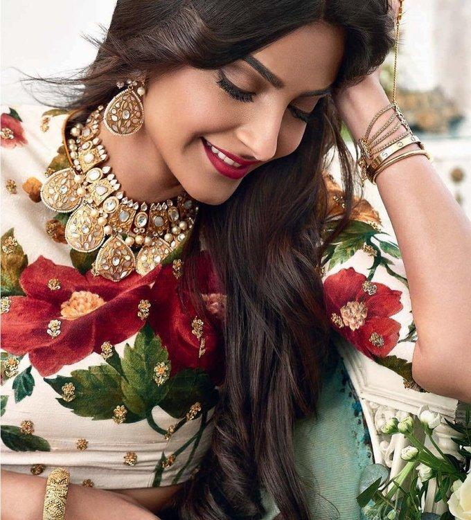 Indian Model Sonam Kapoor Photo Shoot For Wedding Magazine Summer 2017