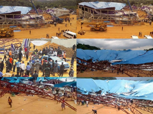 mass burial uyo church collapse victims
