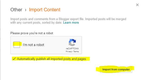 Cara Mudah Membackup dan Import Semua Artikel blogger