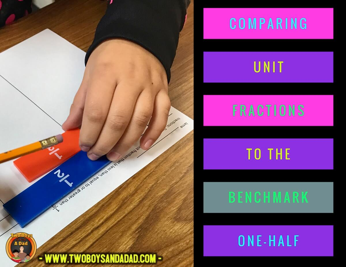 compare fractions to a benchmark