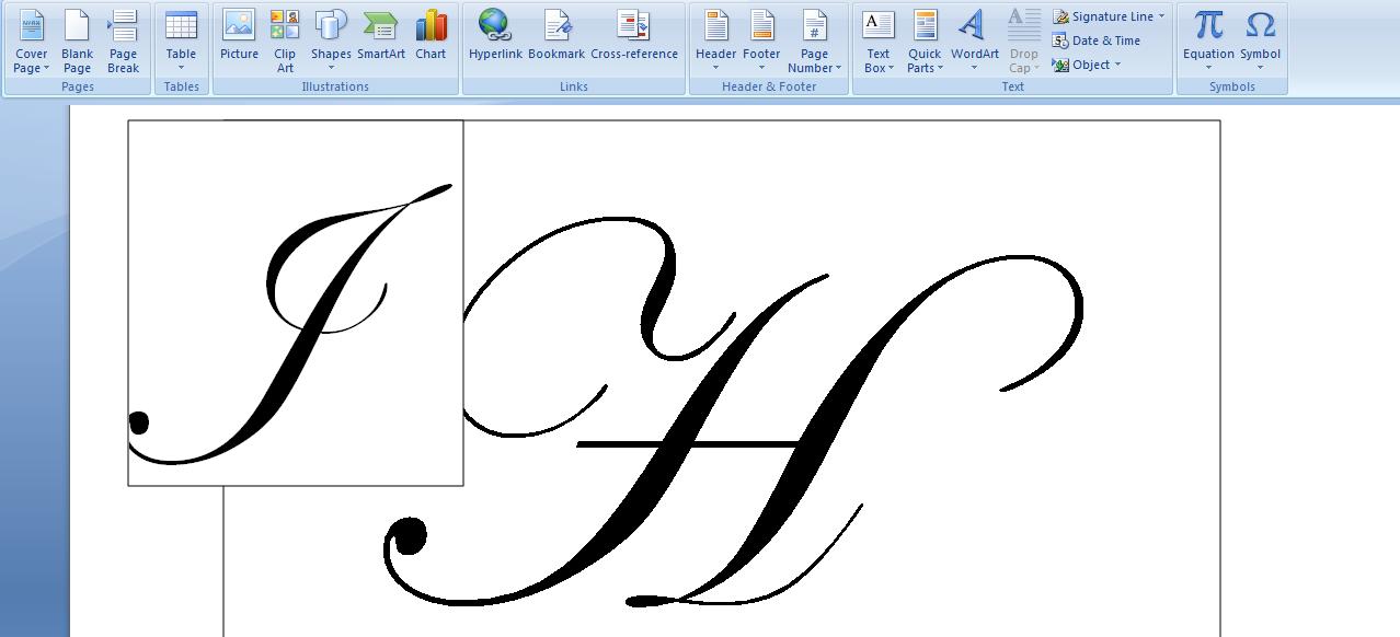 how to create monogram initials