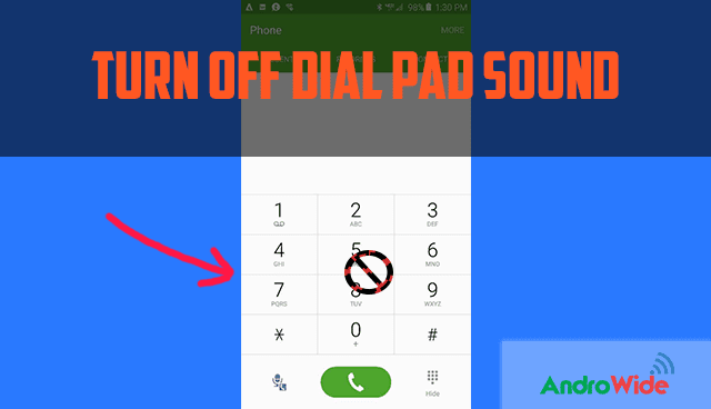 disable dial pad sound on redmi phone