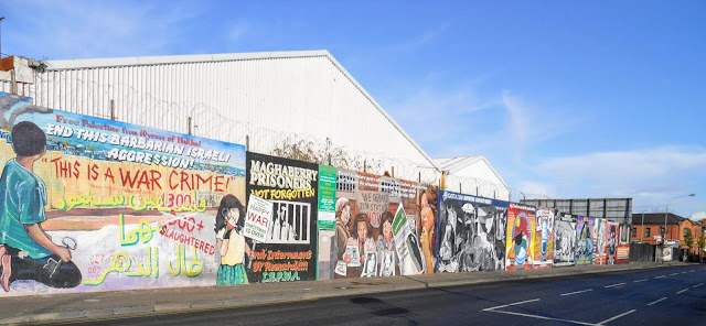 Why visit Belfast from Dublin: the political murals of Falls Road