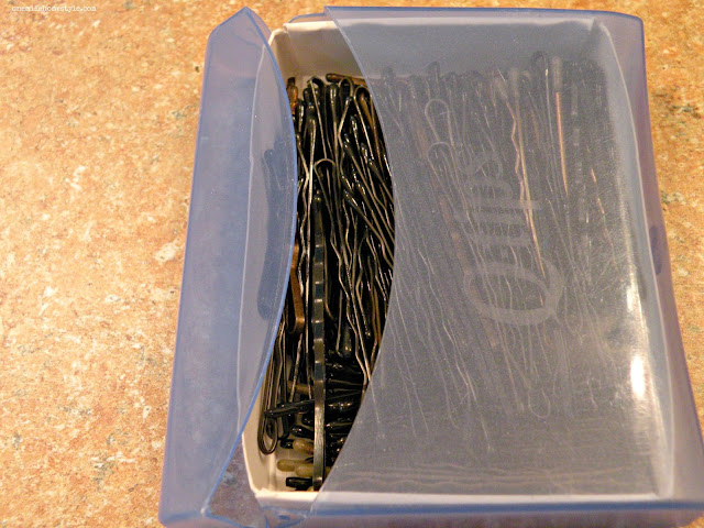 Bobby pin storage and organization hack - One Mile Home Style