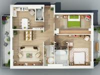 Desain interior rumah kecil minimalis sederhana