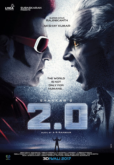 Rajnikanth Akshay kumar First look poster in 2point0