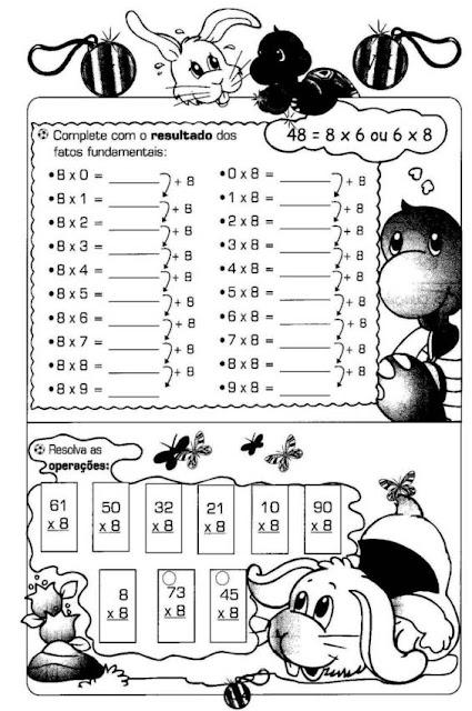 Confira várias Atividades de Matemática variadas prontas para imprimir, indicadas a alunos do terceiro ano do Ensino Fundamental.