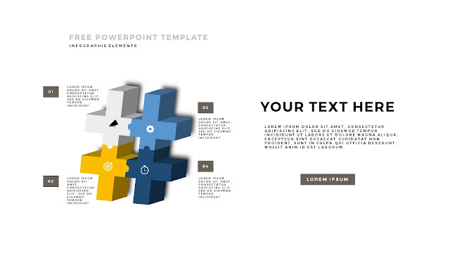 Free PowerPoint Template with 3D Puzzle and Sign Infographic Elements Slide 2